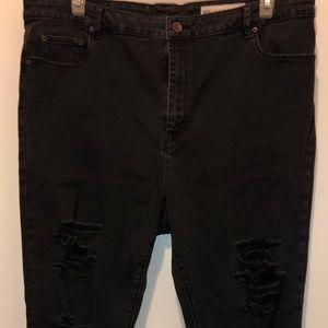 ASOS curve black skinny jeans
